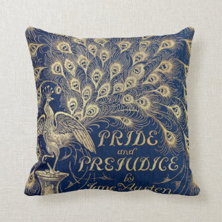 Jane Austen Pride and Prejudice Peacock 1894 Throw Pillow