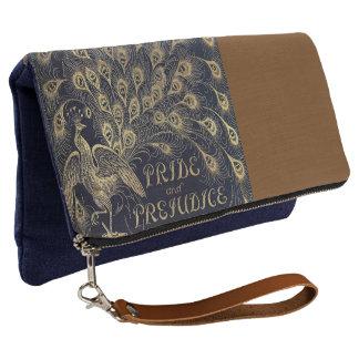 Jane Austen Pride and Prejudice Peacock Book Cover Clutch