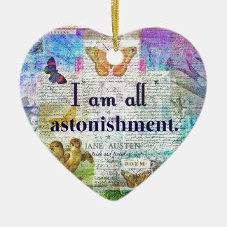 Jane Austen Pride and Prejudice Quote Ceramic Ornament