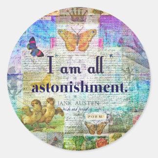 Jane Austen Pride and Prejudice Quote Classic Round Sticker