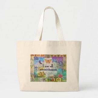 Jane Austen Pride and Prejudice Quote Large Tote Bag