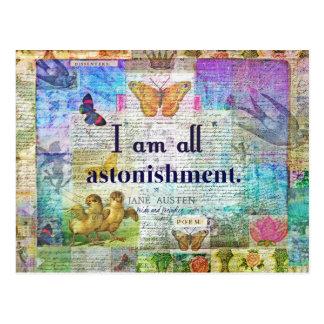 Jane Austen Pride and Prejudice Quote Postcard