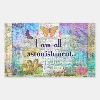 Jane Austen Pride and Prejudice Quote Sticker