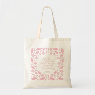 Jane Austen Pride & Prejudice Floral Bookish Quote