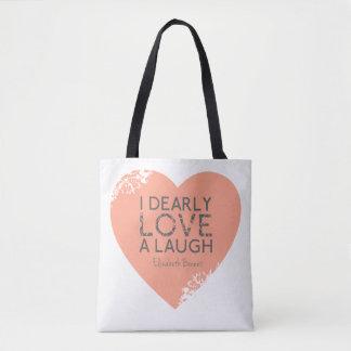 Jane Austen Pride Prejudice Quote | Pink Heart Bag