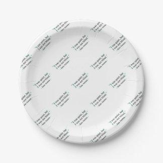 Jane Austen quote 7 Inch Paper Plate