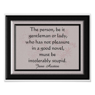 Jane Austen quote - art print