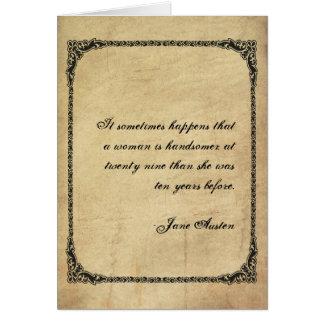 Jane Austen Quote Birthday Card CUSTOMIZED