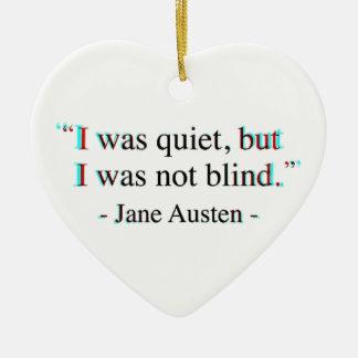 Jane Austen quote Ceramic Ornament