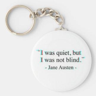 Jane Austen quote Keychain
