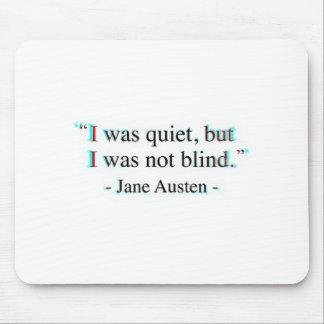 Jane Austen quote Mouse Pad