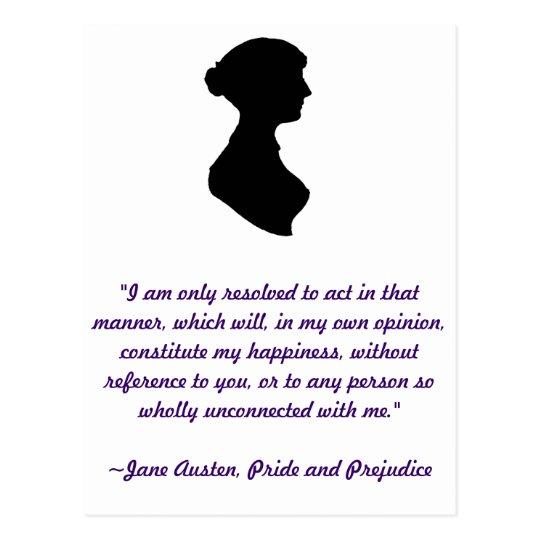 Jane Austen Quote Postcard