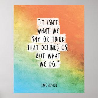 Jane Austen Quote Print Motivational Poster
