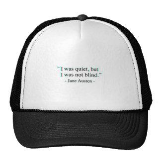 Jane Austen quote Trucker Hat