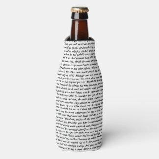 Jane Austen Quotes Bottle Cooler