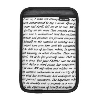 Jane Austen Quotes Double-Sided Sleeve For iPad Mini