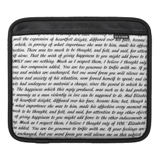 Jane Austen Quotes iPad Sleeve