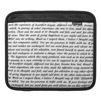 Jane Austen Quotes iPad Sleeves