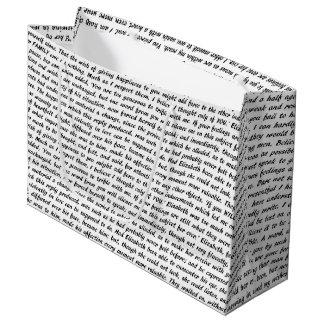 Jane Austen Quotes Large Gift Bag