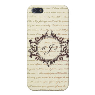 Jane Austen Quotes Monogram Initials Script Case For iPhone 5/5S