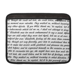 Jane Austen Quotes Sleeves For MacBook Air