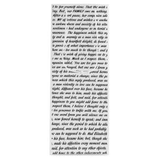 Jane Austen Quotes Wine Gift Bag