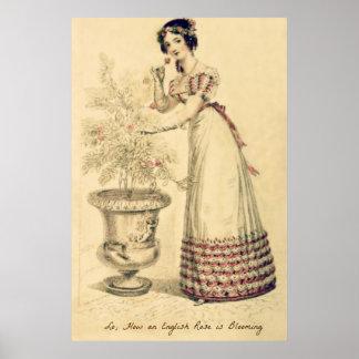 Jane Austen Regency Ball Gown Poster
