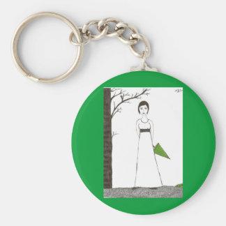Jane Austen rice Basic Round Button Keychain