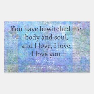 Jane Austen romantic quote Mr. Darcy