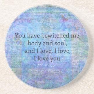 Jane Austen romantic quote Mr. Darcy Coaster