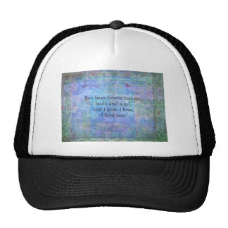 Jane Austen romantic quote Mr. Darcy Trucker Hat