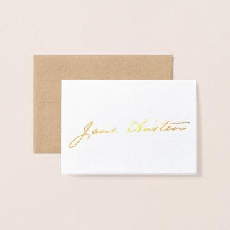 Jane Austen Signature - Gold Foil Card