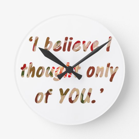 Jane Austen Signature Round Clock