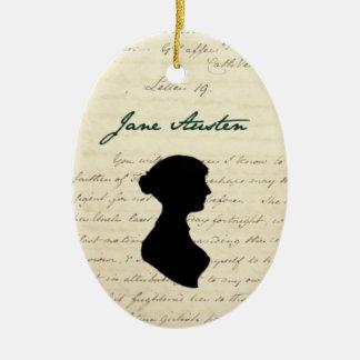 Jane Austen signature & silhouette ornament