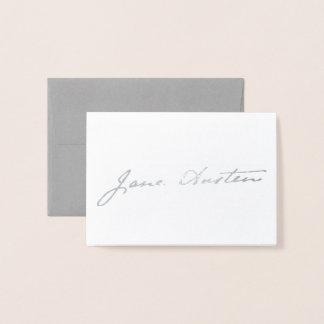 Jane Austen Signature - SIlver Foil Card