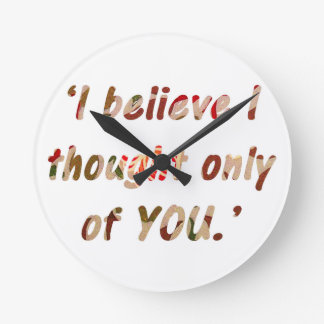 Jane Austen Signature Wall Clock