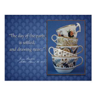 Jane Austen Tea Party Invitation Postcard
