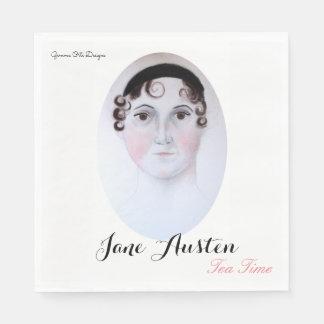 Jane Austen tea time paper napkin. Paper Napkins