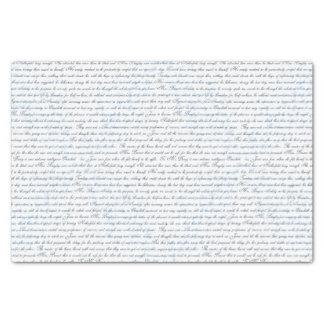 Jane Austen Text White Blue Tissue Paper