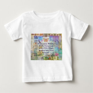 Jane Austen travel adventure quote Baby T-Shirt