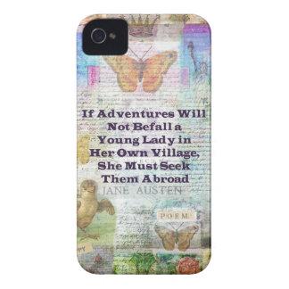 Jane Austen travel adventure quote iPhone 4 Case