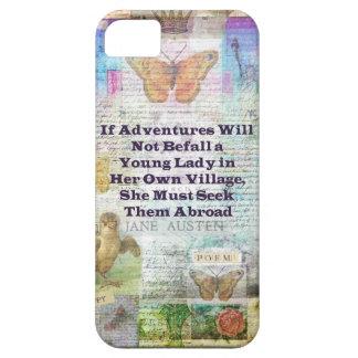 Jane Austen travel adventure quote iPhone 5 Covers