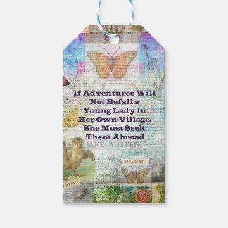 Jane Austen travel adventure quote Pack Of Gift Tags