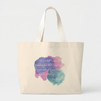 Jane Austen- Truth Universally Acknowledged Large Tote Bag