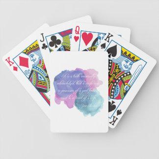 Jane Austen- Truth Universally Acknowledged Poker Deck