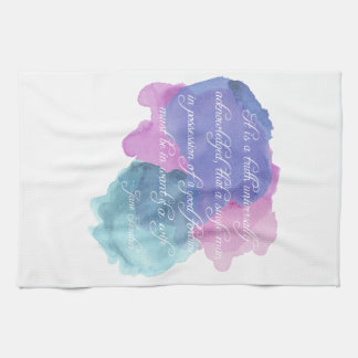 Jane Austen- Truth Universally Acknowledged Towels