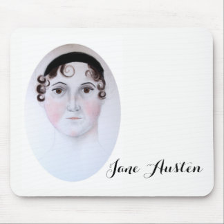 Jane Austen watercolor mousepad by ORDesigns