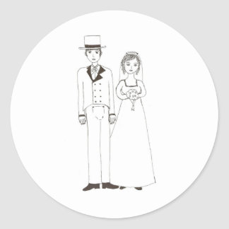 Jane Austen Wedding Classic Round Sticker