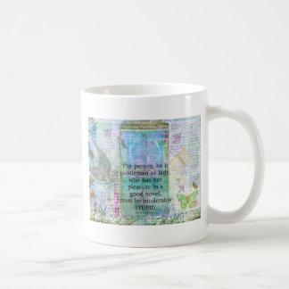 Jane Austen witty book quote Classic White Coffee Mug