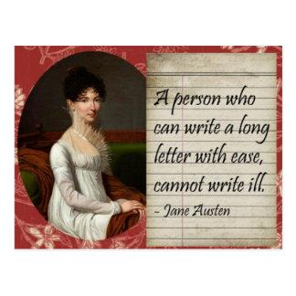 Jane Austen Writing Inspired Design Postcard